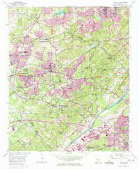 Download a high-resolution, GPS-compatible USGS topo map for Mableton, GA (1974 edition)