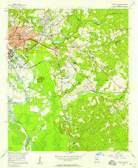 Download a high-resolution, GPS-compatible USGS topo map for Macon East, GA (1958 edition)