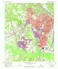 Download a high-resolution, GPS-compatible USGS topo map for Macon West, GA (1973 edition)