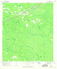 Download a high-resolution, GPS-compatible USGS topo map for Manor, GA (1970 edition)