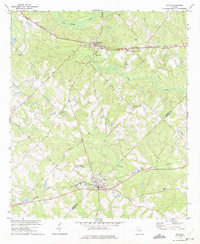 Download a high-resolution, GPS-compatible USGS topo map for Milan, GA (1975 edition)