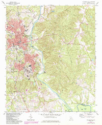Download a high-resolution, GPS-compatible USGS topo map for Milledgeville, GA (1984 edition)