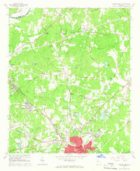 Download a high-resolution, GPS-compatible USGS topo map for Newnan North, GA (1966 edition)
