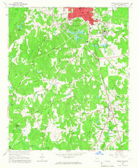 Download a high-resolution, GPS-compatible USGS topo map for Newnan South, GA (1966 edition)