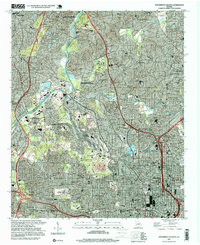 Download a high-resolution, GPS-compatible USGS topo map for Northwest Atlanta, GA (1999 edition)