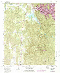 Download a high-resolution, GPS-compatible USGS topo map for Oakman, GA (1986 edition)