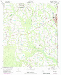 Download a high-resolution, GPS-compatible USGS topo map for Ocilla West, GA (1987 edition)