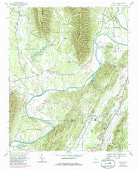 Download a high-resolution, GPS-compatible USGS topo map for Plainville, GA (1986 edition)