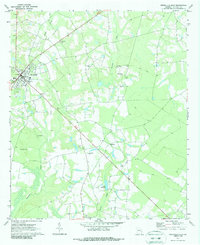 Download a high-resolution, GPS-compatible USGS topo map for Reidsville East, GA (1987 edition)