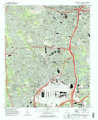 Download a high-resolution, GPS-compatible USGS topo map for Southwest Atlanta, GA (1995 edition)