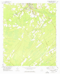 Download a high-resolution, GPS-compatible USGS topo map for Springfield South, GA (1978 edition)