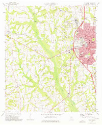 Download a high-resolution, GPS-compatible USGS topo map for Tifton West, GA (1976 edition)
