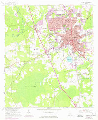 Download a high-resolution, GPS-compatible USGS topo map for Valdosta, GA (1977 edition)