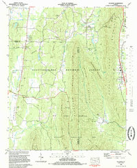 Download a high-resolution, GPS-compatible USGS topo map for Villanow, GA (1983 edition)