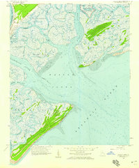 Download a high-resolution, GPS-compatible USGS topo map for Wassaw Sound, GA (1959 edition)