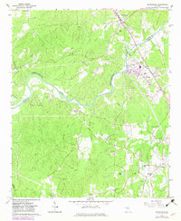 Download a high-resolution, GPS-compatible USGS topo map for Whitesburg, GA (1983 edition)