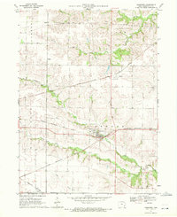 Download a high-resolution, GPS-compatible USGS topo map for Ainsworth, IA (1972 edition)