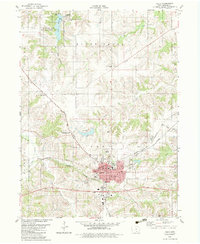 Download a high-resolution, GPS-compatible USGS topo map for Albia, IA (1983 edition)