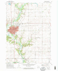 Download a high-resolution, GPS-compatible USGS topo map for Algona, IA (1975 edition)