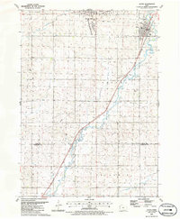 Download a high-resolution, GPS-compatible USGS topo map for Alton, IA (1986 edition)