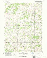 Download a high-resolution, GPS-compatible USGS topo map for Blakesburg NE, IA (1971 edition)