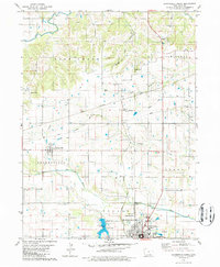 Download a high-resolution, GPS-compatible USGS topo map for Bloomfield North, IA (1986 edition)