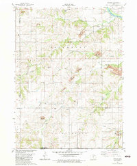 Download a high-resolution, GPS-compatible USGS topo map for Buxton, IA (1983 edition)