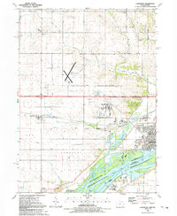 Download a high-resolution, GPS-compatible USGS topo map for Camanche, IA (1992 edition)