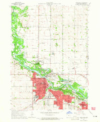 Download a high-resolution, GPS-compatible USGS topo map for Cedar Falls, IA (1965 edition)
