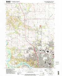 Download a high-resolution, GPS-compatible USGS topo map for Cedar Rapids North, IA (1994 edition)