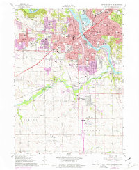 Download a high-resolution, GPS-compatible USGS topo map for Cedar Rapids South, IA (1976 edition)