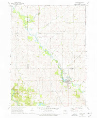 Download a high-resolution, GPS-compatible USGS topo map for Coggon, IA (1977 edition)