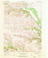 Download a high-resolution, GPS-compatible USGS topo map for Cotter, IA (1972 edition)
