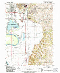 Download a high-resolution, GPS-compatible USGS topo map for Council Bluffs South, IA (1994 edition)