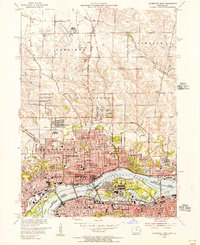 Download a high-resolution, GPS-compatible USGS topo map for Davenport East, IA (1956 edition)