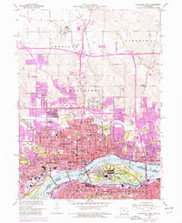 Download a high-resolution, GPS-compatible USGS topo map for Davenport East, IA (1976 edition)