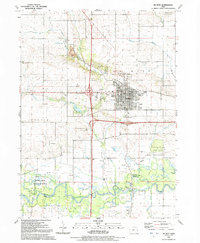Download a high-resolution, GPS-compatible USGS topo map for De Witt, IA (1992 edition)