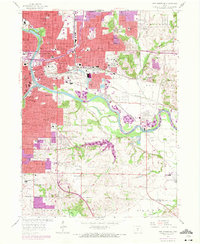 Download a high-resolution, GPS-compatible USGS topo map for Des Moines SE, IA (1972 edition)