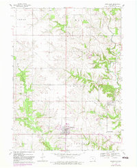 Download a high-resolution, GPS-compatible USGS topo map for Donnellson, IA (1983 edition)