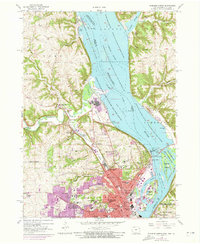 Download a high-resolution, GPS-compatible USGS topo map for Dubuque North, IA (1973 edition)