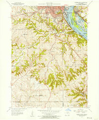 Download a high-resolution, GPS-compatible USGS topo map for Dubuque South, IA (1957 edition)