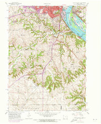 Download a high-resolution, GPS-compatible USGS topo map for Dubuque South, IA (1973 edition)