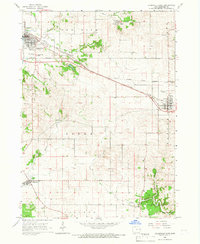 Download a high-resolution, GPS-compatible USGS topo map for Dyersville East, IA (1967 edition)
