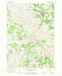 Download a high-resolution, GPS-compatible USGS topo map for Elkader, IA (1967 edition)