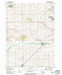 Download a high-resolution, GPS-compatible USGS topo map for Fairfax, IA (1994 edition)