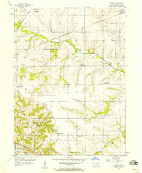 Download a high-resolution, GPS-compatible USGS topo map for Farson, IA (1958 edition)