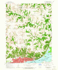 Download a high-resolution, GPS-compatible USGS topo map for Fort Madison, IA (1965 edition)