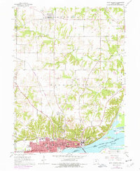 Download a high-resolution, GPS-compatible USGS topo map for Fort Madison, IA (1977 edition)