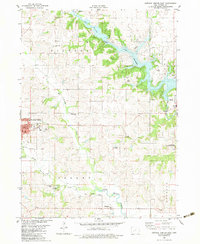 Download a high-resolution, GPS-compatible USGS topo map for Guthrie Center East, IA (1983 edition)