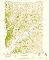 Download a high-resolution, GPS-compatible USGS topo map for Honey Creek, IA (1958 edition)